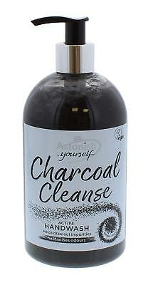 3 x Astonish Charcoal Cleanse Active Hand Wash Odour Neutraliser 500ml