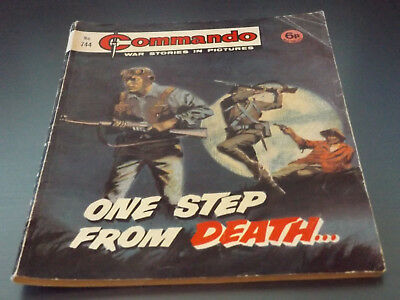 Commando War Comic Number 744!!,1973 Issue,good For Age,45 Years Old,v Rare.
