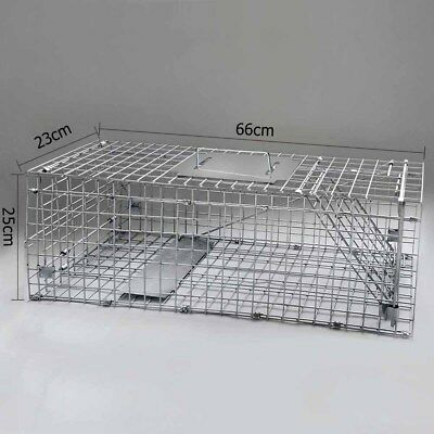 Large Humane Possum Hare Animal Trap Cage Live Safe Catch Feral Hare Auto Lock