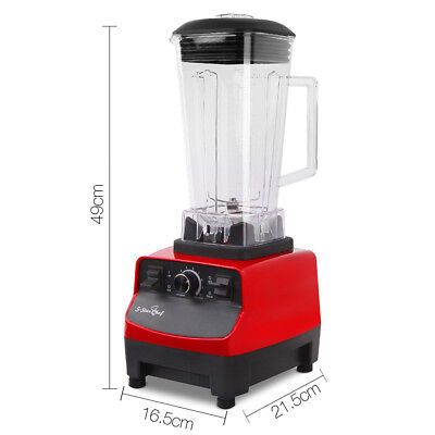 5-Star Chef Commercial Blender  Mixer Juicer Food Processor Smoothie BPA-Free