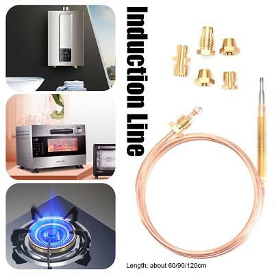 60-120CM Gas Valve Induction Line Thermocouple for Hot Water Boiler+5 Fixed Part
