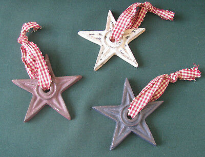 Rustic Star Ornaments Lot 3 Star Christmas Ornaments