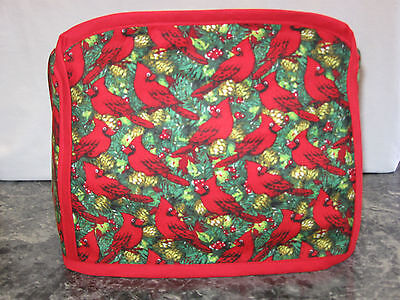 Cardinals Birds in Pine Tree cotton fabric Handmade 2 slice toaster cover (ONLY)