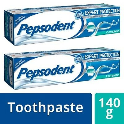 Pepsodent Expert Protection Whitening Toothpaste 140 gm x 2 pack, Free shipping