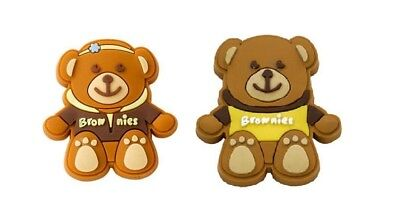Brownie Bear Pin Badge Wearing A Brownie Uniform Hoodie Or T-Shirt NEW