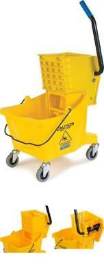 Mop Bucket with Wringer Commercial Cleaner Press Manual Labor Mopping Clean Tool