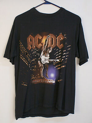 Vintage Original 2001 AC/DC Stiff Upper Lip Europe Concert Shirt Metal Medium