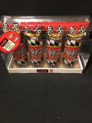 4 Coca-Cola Nascar Racing Glasses New