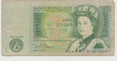 One Pound Banknote, Bank of England