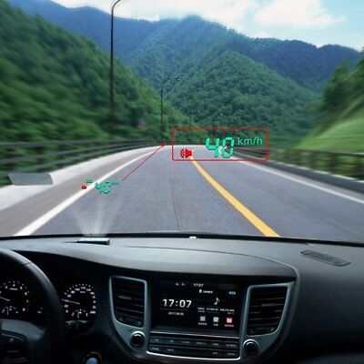 Vehicle OBD HUD Head Up Display Car Speed Water Temperature Mileage Display ^