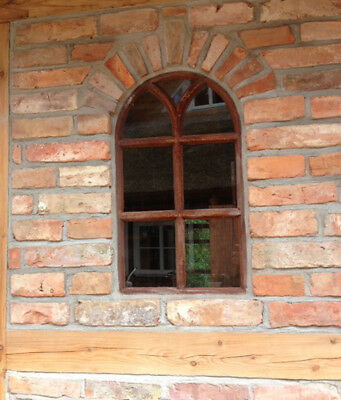 Iron Window with round Arch, Barn Window, Window Made of Iron, like Antique, New