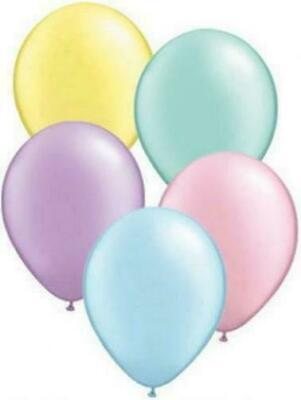 "5""inch Small Round Balloons 10pk Qualatex Pastel Latex Birthday Party Decoration"