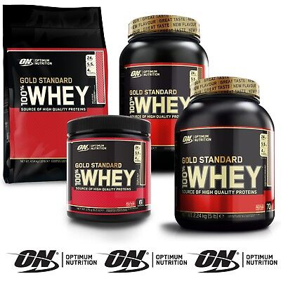 Optimum Nutrition Gold Standard 100 Whey Protein ON 2lb 5lb 10lb All Flavours
