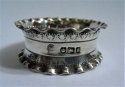 George V  English Sterling Silver Napkin Ring by Henry Griffith & Sons 1916