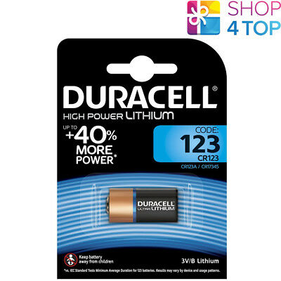 Duracell Cr123 High Power Lithium Battery 3V Dl123A 123A Exp 2027 New