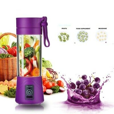 Portable Smoothie Blender USB Juicer Fruit Mixing Machine with USB Charger Cable