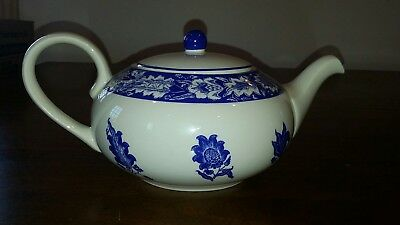 Stourhead Blue & White Teapot by Julie Depledge for The National Trust England