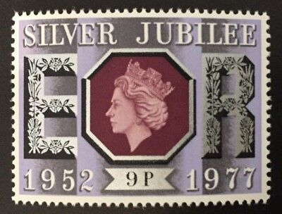 GB MNH, 1977 SG1034 9p Silver Jubilee 15.06.1977, lavender background, free p&p!