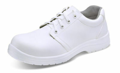 Safety  Food Industry Chefs Kitchen Catering  White Anti Slip Shoe  Size 6