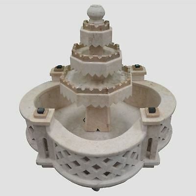 4 Tier Elegant Portable Real Stone Water Fountain Garden Patio Outdoor Fountain