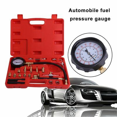 0-140 PSI Fuel Injection Pump Injector Tester Pressure Gauge Gasoline Car Tool W
