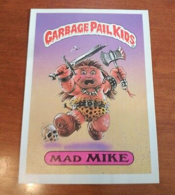 1986 Garbage Pail Kids Series 1 5x7 Giant Sticker Card #33 Mad Mike