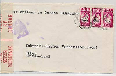 LI59857 South West Africa censored mail fine cover used
