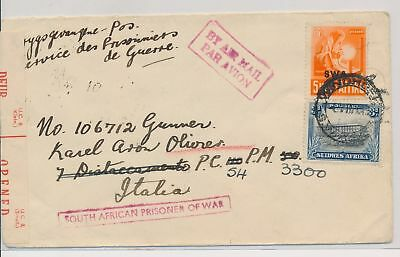LI59866 South West Africa censored prisoner of war airmail cover used