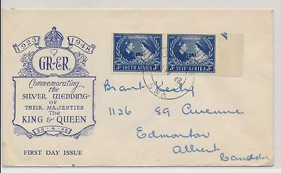 LI59876 South West Africa 1948 silver wedding first day cover used