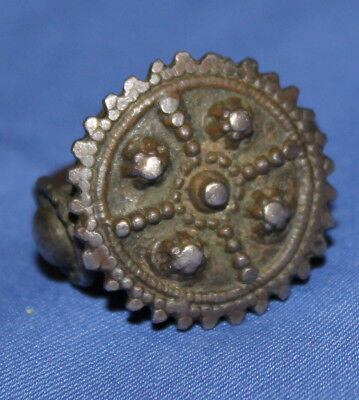 Antique Hand Made Medieval Crusader Bronze Ring