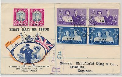 LI59890 South West Africa 1947 royal visit first day cover used