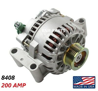 200 AMP 8408 Alternator Ford Mercury High Output Performance HD NEW USA