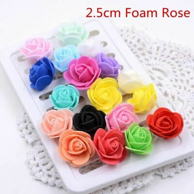 50pcs 19Colors 3cm Small Mini Roses Foam Artificial Flowers For Wedding Festive
