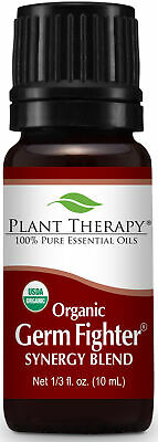 Plant Therapy Germ Fighter Organic Synergy Essential Oil 10 mL (1/3 oz)