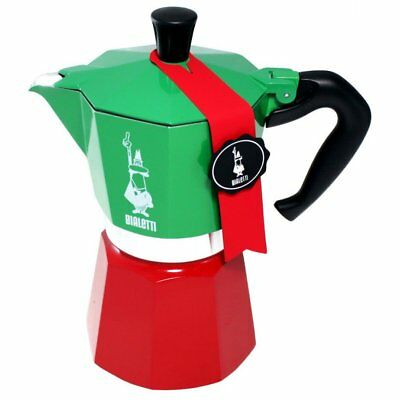 BIALETTI TRICOLORE - New Moka Express 3 Cup Limited Edition ITALIA made in Italy