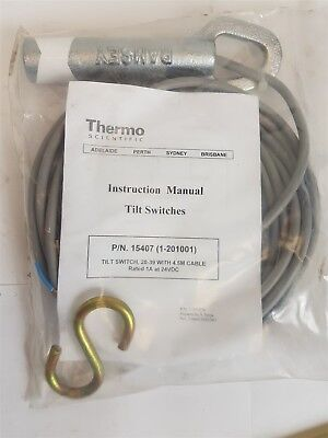 Thermo Scientific 15406 Tilt Switch 20-39 + 4.5m cable (1-201001) 24VDC 1A New