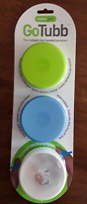 Humangear GoTubb .7 oz Container - 3 Pack - Green/Blue/Clear Free Shipping