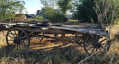 Antique Old Wooden Wagon