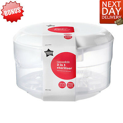 Microwave Steriliser 2 In 1 Microwave and Cold Water Tommee Tippee Essentials