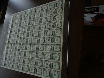 50 UNCUT SHEET $ 1 ($1 X 50) Legal USA 1 DOLLAR*Real Currency NOTES*RARE BILLS