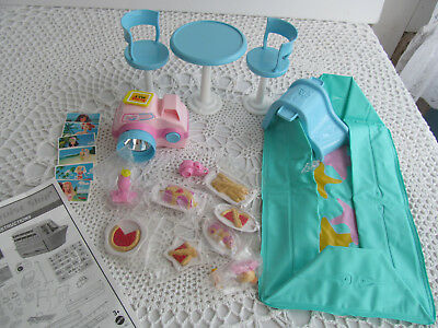 BARBIE CRUISE Ship Yacht Replacement Table Chair Set - Cruise ship pool table