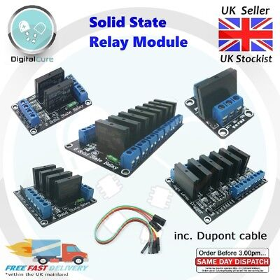 1 2 4 6 8 Channel OMRON 5V SSR Solid State Relay High Trigger Module- Arduino Pi