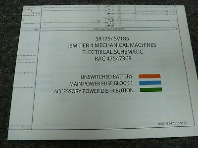 Case SR175 SV185 ISM Tier 4 Skid Steer case 1845c wiring schematic trusted wiring diagrams