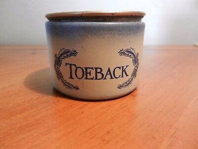 Toeback Tobacco Tin by The Tinder Box