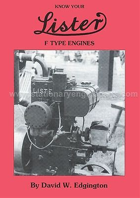 Lister F Book Know Your Lister F Type Stationary Engines Book By David Edgington
