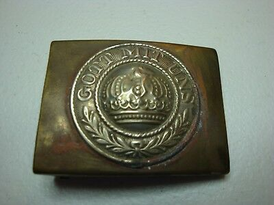 "Original German WW1 Belt Buckle "" Gott Mit Uns"" Imperial Prussia  (275)"