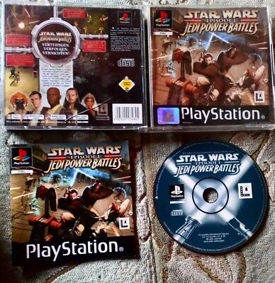 Star Wars: Episode I - Jedi Power Battles Sony PlayStation 1 Ps1 psx one Ps2 ❤