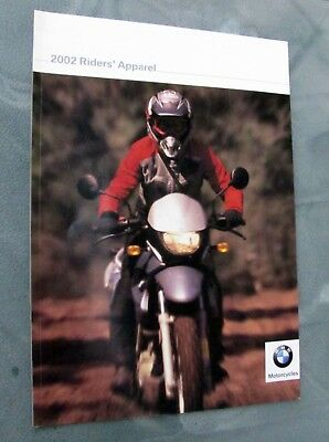 2002 BMW Motorcycle RIDER APPAREL Catalog / Brochure~Leather~Boots~Jackets~Gear