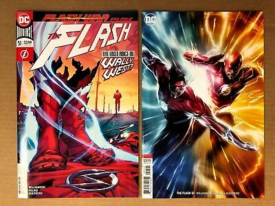 Flash 51 Main + Francesco Mattina Variant Set 1st print DC Comics 2018 NM
