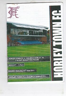 Horley Town V Dulwich Hamlet Fa Cup  17/9/2011